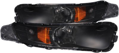 Anzo Bumper Light 511002 direct fitwith black with amber reflector 1 year anzo limited warranty