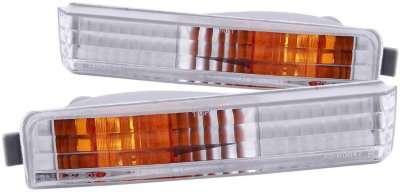 Anzo Bumper Light 511006 direct fitwith clear with amber reflector 1 year anzo limited warranty